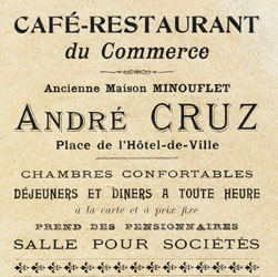 Café-Restaurant du Commerce André Cruz 1911